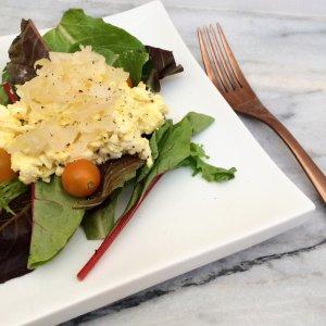 Sauerkraut Egg Salad | low carb, vegetarian, keto, lchf