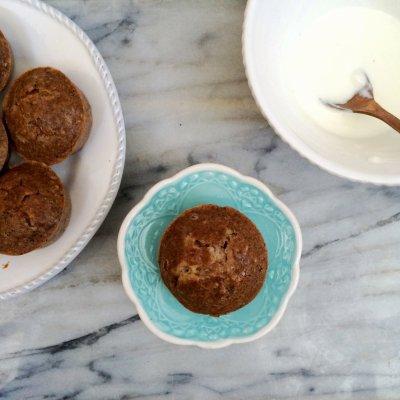 Sugar Free Spiced Hazelnut Muffins with Orange Cream   grain free, gluten free, sugar free, low carb