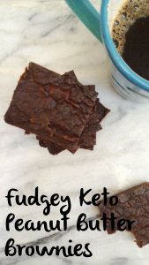 Keto Peanut Butter Brownies | low carb, sugar free, grain free, gluten free, egg free, dairy free
