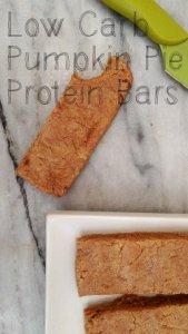 Low Carb Pumpkin Pie Protein Bars | sugar free, gluten free, grain free, keto, lchf