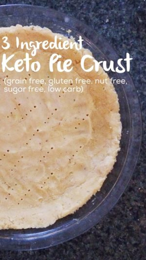 Keto Pie Crust | low carb, grain free, gluten free, sugar free, nut free