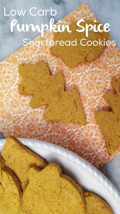 Low Carb Pumpkin Spice Shortbread   sugar free, grain free, gluten free, nut free, keto & atkins friendly