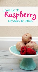Raspberry Protein Low Carb Truffles | sugar free, LCHF, keto and atkins friendly!
