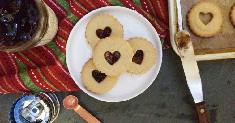Low Carb Vegan Linzer Cookies