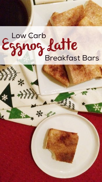 Low Carb Eggnog Latte Breakfast Bars | tasty and delicious keto breakfast treats!