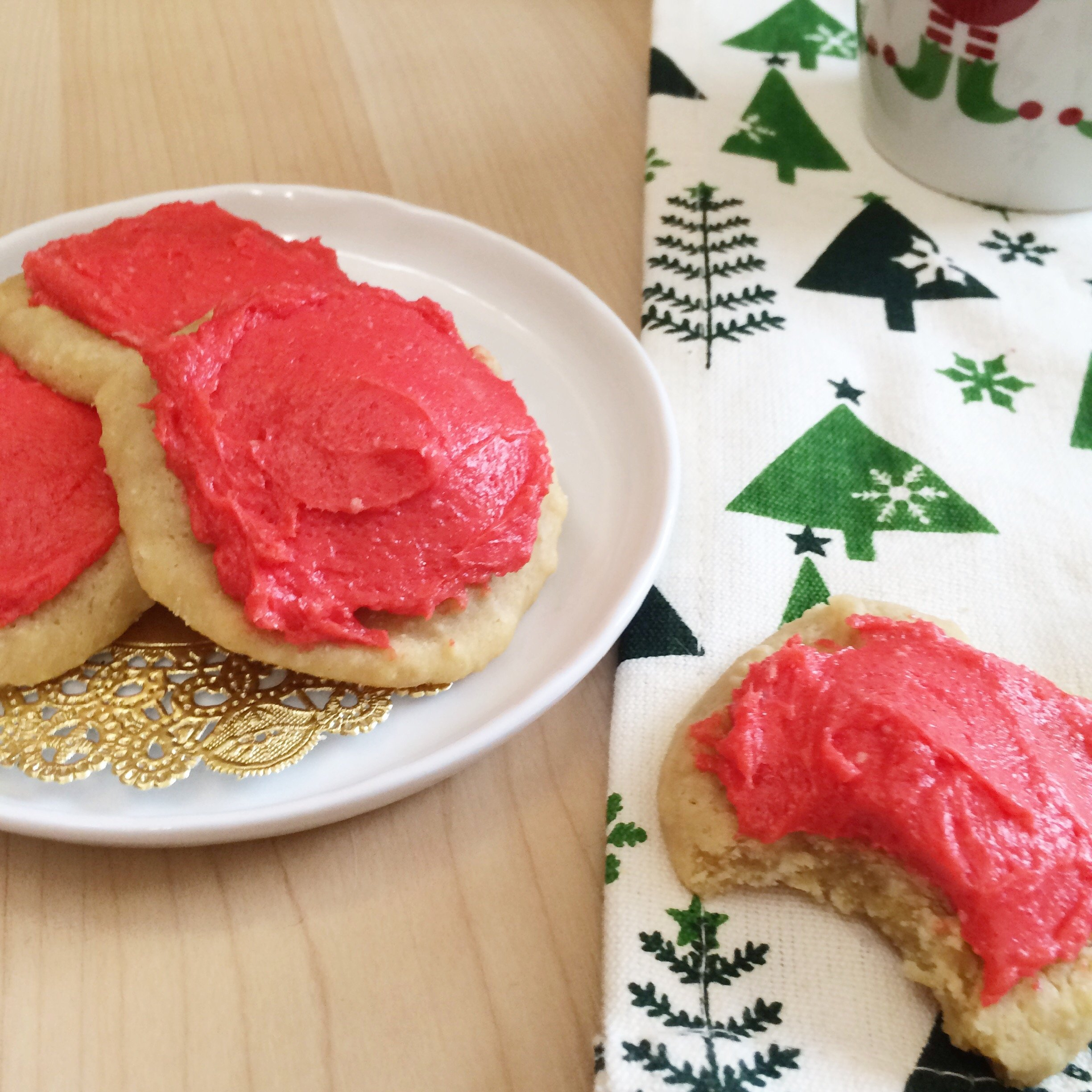 Lofthouse Style Low Carb Vegan Sugar Cookies