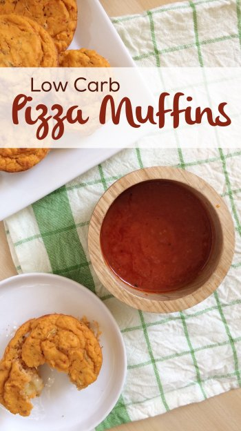 Low Carb Pizza Muffins | Crazy easy, grain free, gluten free, nut free, keto friendly and super delicious!