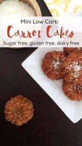 Mini Low Carb Carrot Cake | Sugar free, dairy free and keto friendly!