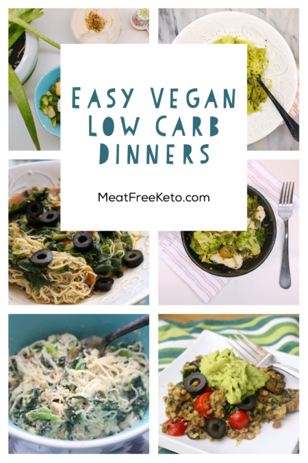 Easy Vegan Keto Dinners | Simple one pot low carb vegan recipes to get you through the week with ease!