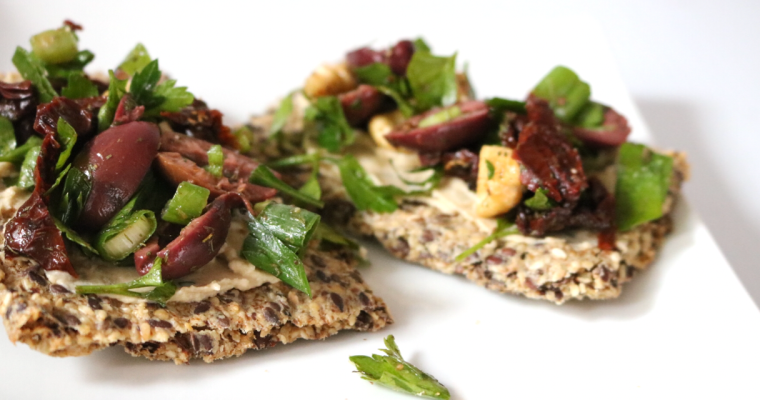 Low Carb  Mediterranean Flatbread