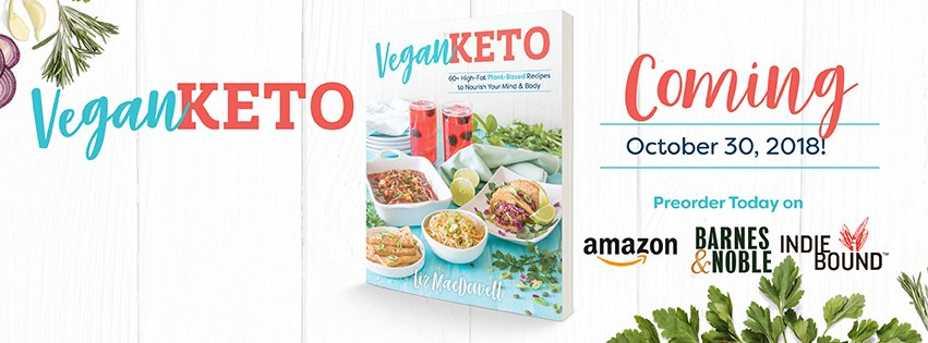This is happening – A Vegan Keto Cookbook!