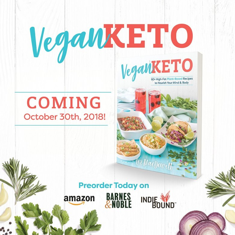 Vegan Keto Cookbook | MeatFreeKeto.com - Finally, a low carb vegan cookbook with gluten-free, dairy-free, egg-free, soy-free and nut-free recipes!