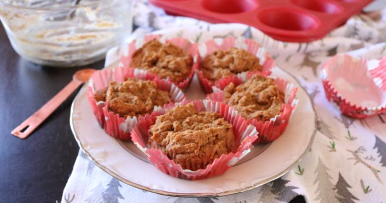 Vegan Keto Gingerbread Muffins (low carb, gluten free)