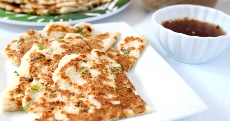 Vegan Keto Scallion Pancakes (nut free, allergen free, low carb)