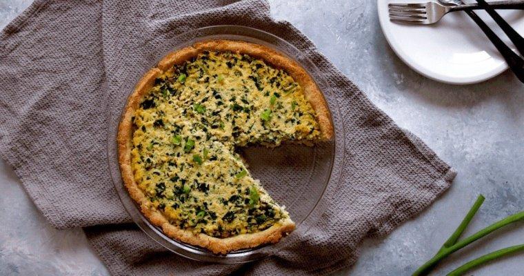 Low Carb Vegan Spinach Pie