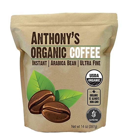 a bag of coffee powder for vegan keto instant coffee