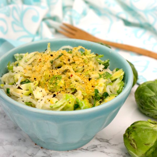 Low Carb Vegan Creamy Brussels Sprouts Spagetti Recipe   Meat Free Keto - This Low Carb Vegan Creamy Brussels Sprouts Spaghetti dish is keto friendly, gluten free, nut free and a good source of protein and fiber!