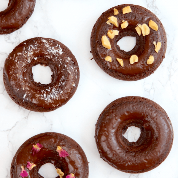 Vegan Keto Chocolate Doughnuts   MeatFreeKeto.com - These delicious doughnuts are easy to throw together and so darn tasty! They're also gluten-free, nut-free, soy-free, coconut-free, egg-free and dairy-free. Not bad for a low carb treat!