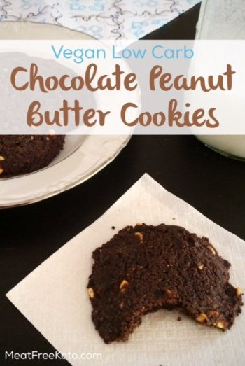 Peanut Butter Chocolate Low Carb Vegan Cookies