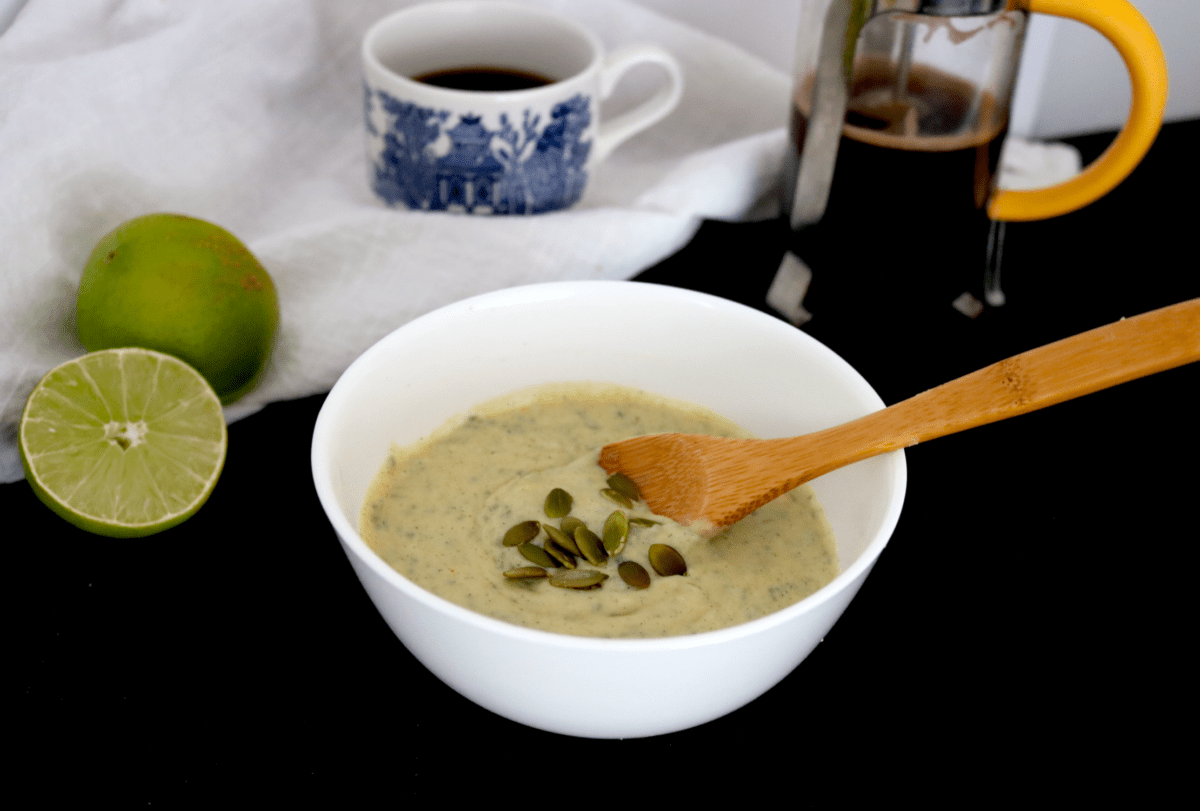 Low Carb Vegan Coconut Lime Noatmeal (nut free, soy free, low-FODMAP)
