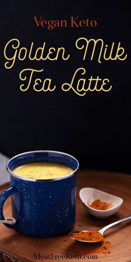 Vegan Keto Golden Milk Tea Latte (dairy-free) | MeatFreeKeto.com