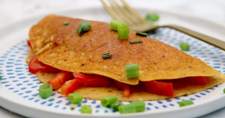 Easy Vegan Keto Omelette (gluten free & soy free)
