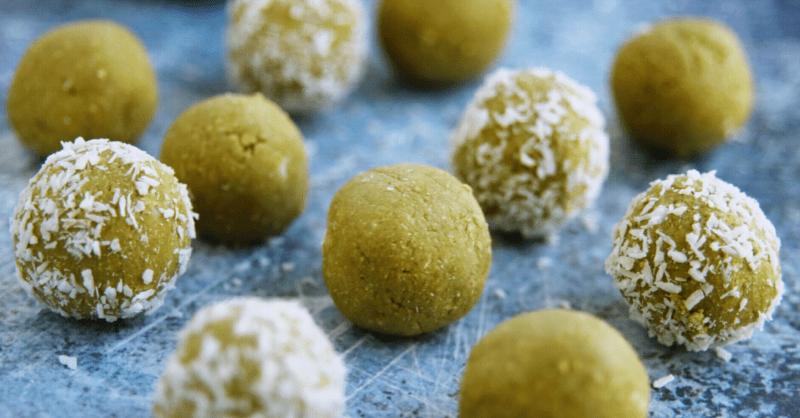 Vegan Keto Coconut Matcha Bites (gluten-free, soy-free, nut-free)