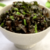 a bowl of low carb vegan nori salad