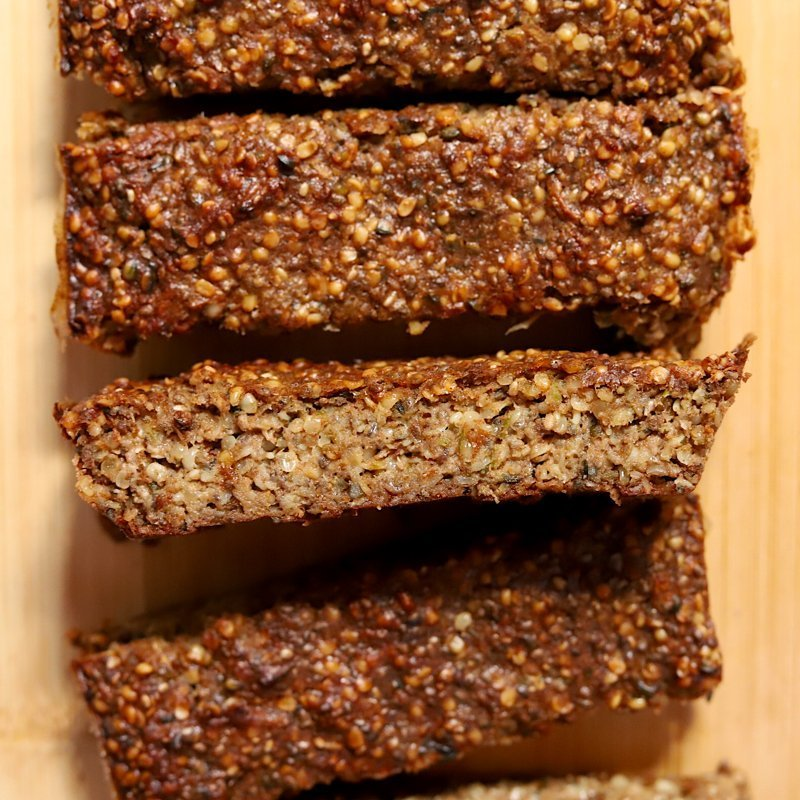 Vegan Keto Zucchini Noatmeal Breakfast Bars (gluten-free, soy-free, paleo)