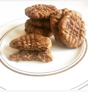 Almond Butter Snickerdoodle cookies