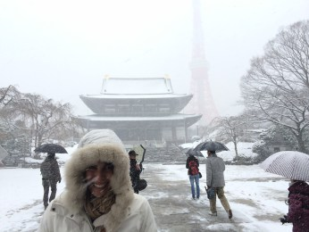 Tokyo tower in the snow