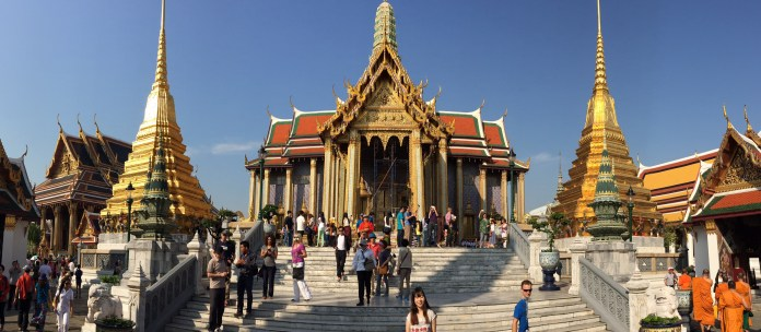 One of the temples at the Grand Palace