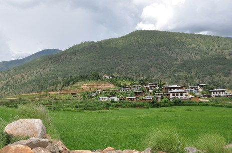 The temple at the distance