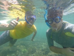 Snorkelling around the island