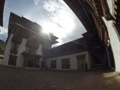 A view inside Punakha Dzong