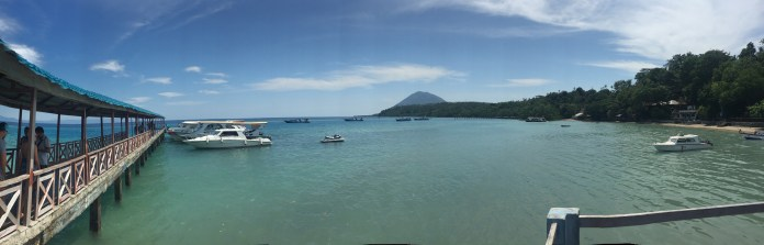 The view at Bunaken, one of the best diving spots.