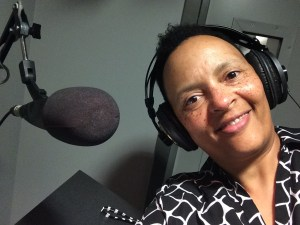 Selfie in the sound booth at George Washington University [credit: Dr. Felicia Mebane]