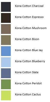 Kona Colors - Northern Ireland Rocky Wall Color Palette