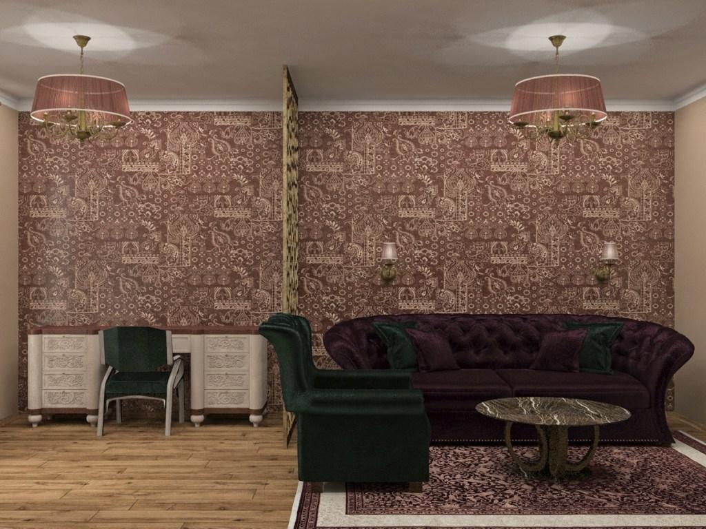 Гостиная в стиле арт 3