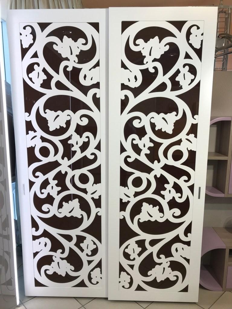 Шкаф белый с фрезеровкой распродажа мебели в Люберцах