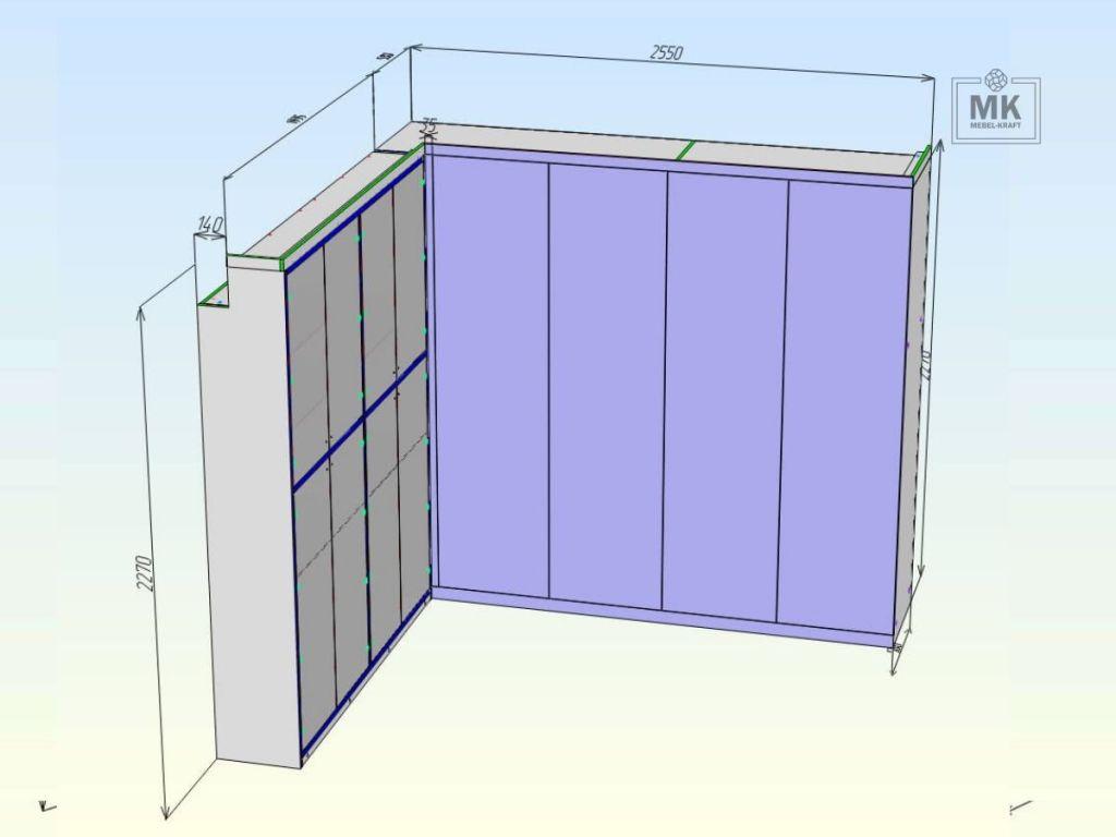 Шкаф Luton процесс проектирования #1