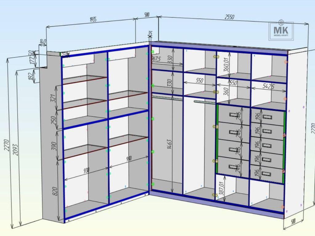 Шкаф Luton процесс проектирования