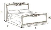 Кровать 180х200 CURVO FREGGIO