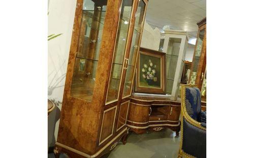 """Гостиная """"Грация GRACIA 891"""", с 2-дверной витриной и большой тумбой ТВ, орех"""