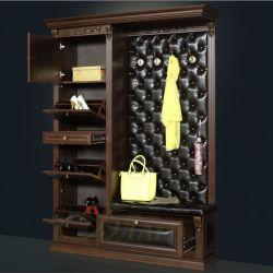 Вешалка с обувным шкафом Б5.16-21 Орех