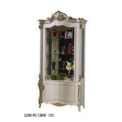 """Гостиная """"Ромео ROMEO 3288"""", с 2-дверной витриной, орех с золотом"""