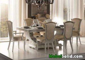 Meja Makan Putih Klasik Modern