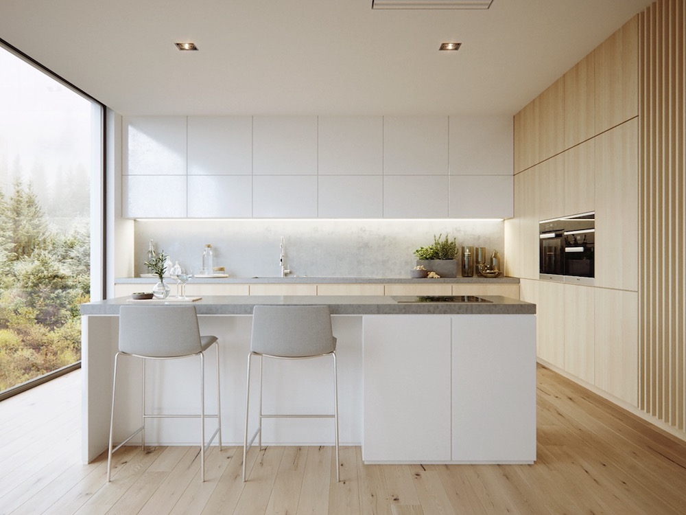 White and Wood Kitchen Mebelux
