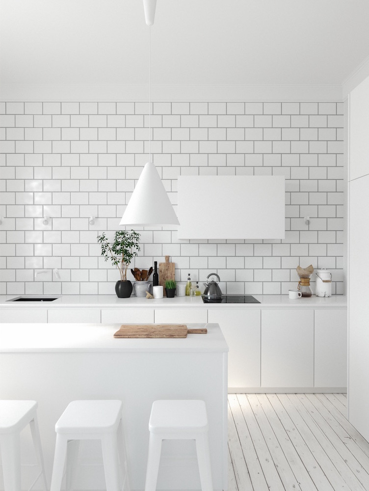 White Brick Backsplash Mebelux