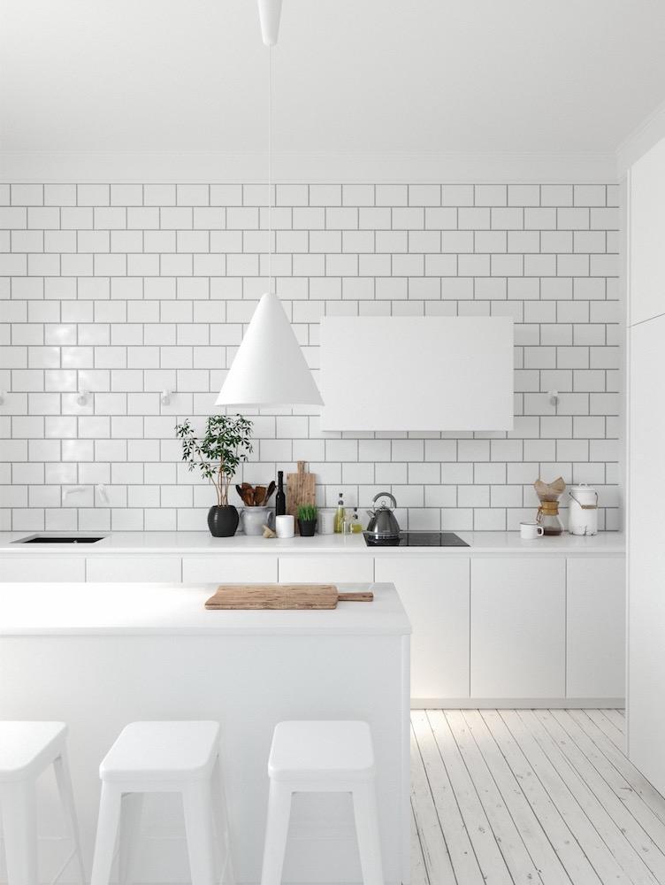 White Brick Backsplash Mebelux